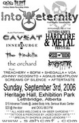 poster Hardcore and Metal fest